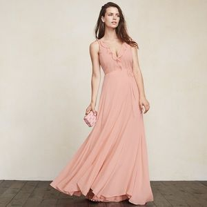 Reformation Arabella Dress (for boobs) XS peach 🍑